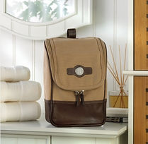 canvas and leather stylish mens travel bag