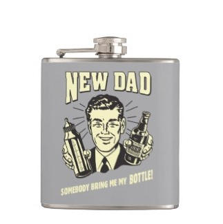 Funny New Dad Flask $26.35