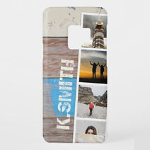 rustic boardwalk custom photo strip samsung case