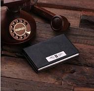 elegant personalised business card holder