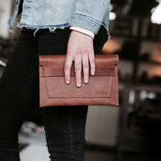 Leather Clutch $54