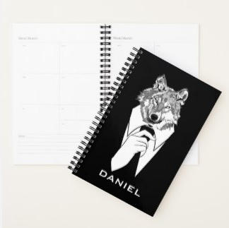 Hipster Wolf Planner $23.20