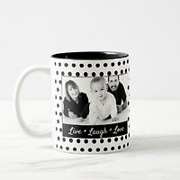 POLKA DOT PHOTO MUG