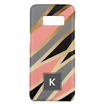 elegant abstract pattern samsung case grey and pink