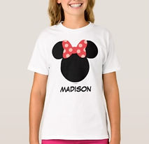 personalised girls disney minnie mouse shirt