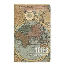 vintage map personalised pocket travel notes book
