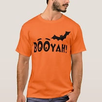 funny booyah bat orange halloween tshirt