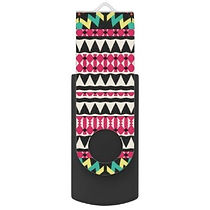 snazzy pink aztec pattern usb flash drive