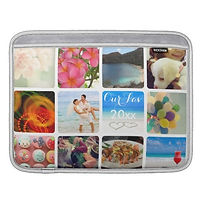 classic custom photo collage macbook sleeve