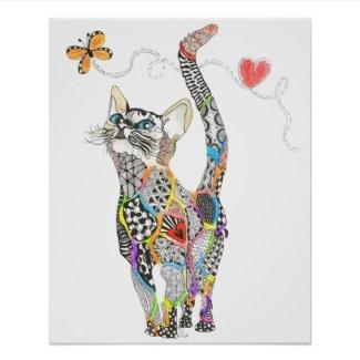 Rainbow Kitty Poster $14.30