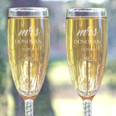 Pair of Engraved Flutes $31