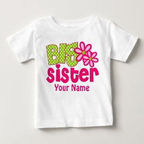 big sister personalised big sister baby shirt