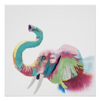 Cool Elephant Poster $19.15