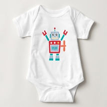 toy robot baby bodysuit