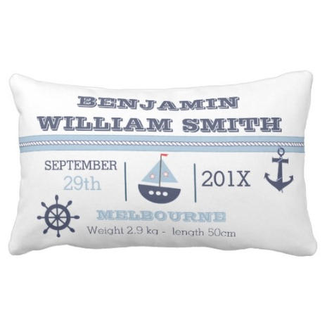 Nautical Birth Cushion $40.10
