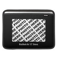 classic custom photo black macbook sleeve
