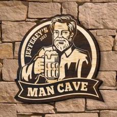 Man Cave Wood Sign $69.95