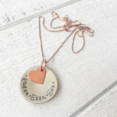Disc & Heart Necklace $78