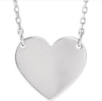 Silver Heart Necklace $95