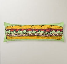 novelty giant hoagie body pillow