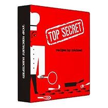funny top secret recipe binder