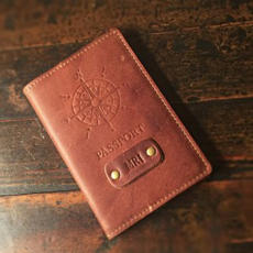 Leather Passport Cover $35