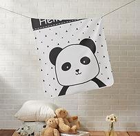 Personalised Panda Baby Blanket