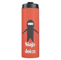 funny ninja juice thermal tumblers