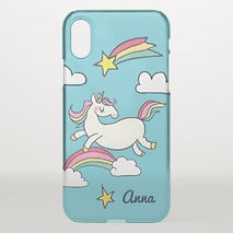 cute unicorns and rainbows iphone case