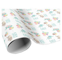 Baby Elephant Pattern Baby Gift Wrapping Paper