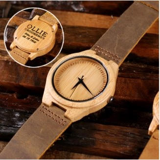 Engraved Wood Watch $34.99
