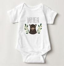 woodland baby bear baby bodysuit