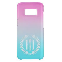 turquoise and pink gradient samsung case