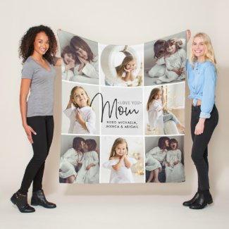 8 Photo Mom Blanket $61.35