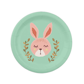 cute bunny easter party plates