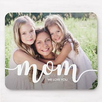 personalised photo mouse pad for mom with modern typography