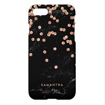faux rose gold confetti iphone case