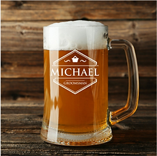Personalized 16 Ounce Beer Mug