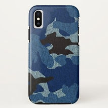 cool blue camouflage iphone case