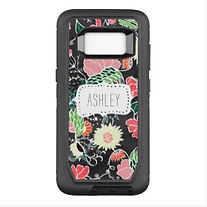 pretty floral modern personalised samsung case