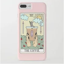 coffee tarot card iphone case