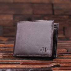 Initial Leather Wallet $19.99