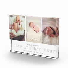 Baby Photo Trio Block $45.35