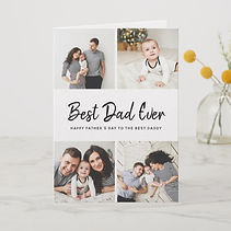 custom photo card best dad greeting card