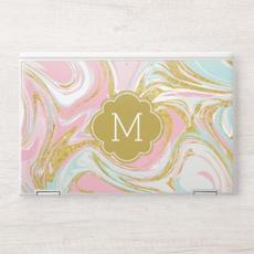 Elegant Pink & Gold Marble
