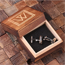 Personalized Engraved Bullet Cuff Links w/Box