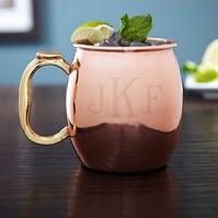 monogrammed mule cocktail mug