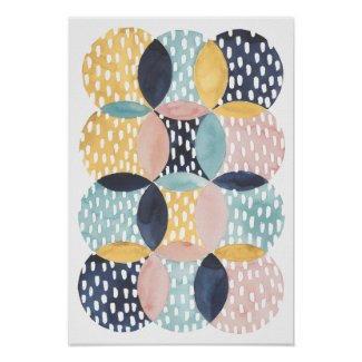 Abstract Circles Poster $13.05