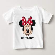disney minnie mouse personalised baby girl's shirt