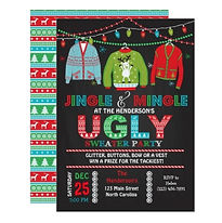 ugly christmas jumper party invitation